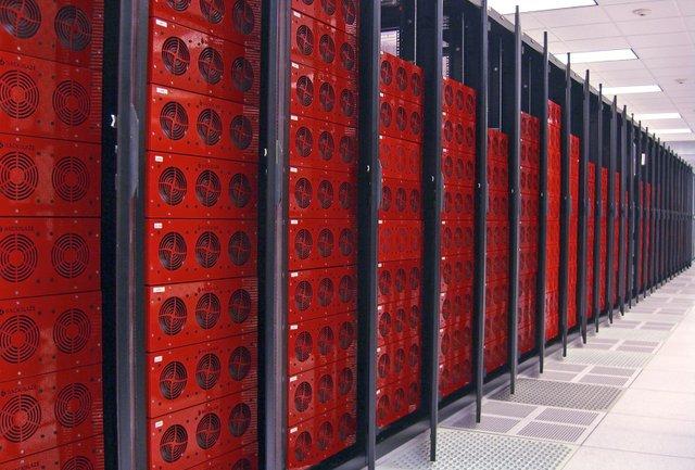 Racks of Server Hard Drives