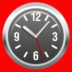 Clock Red