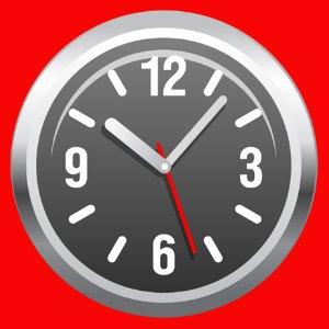 Clock Red
