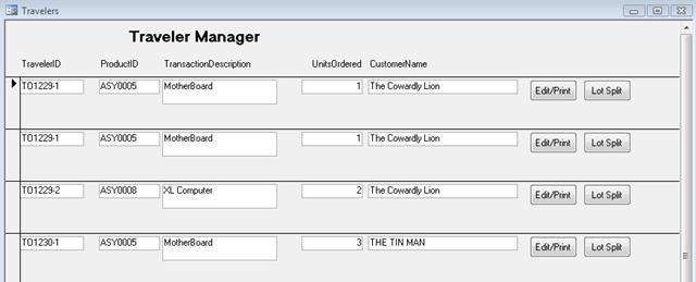 ERPLite Traveler Manager feature