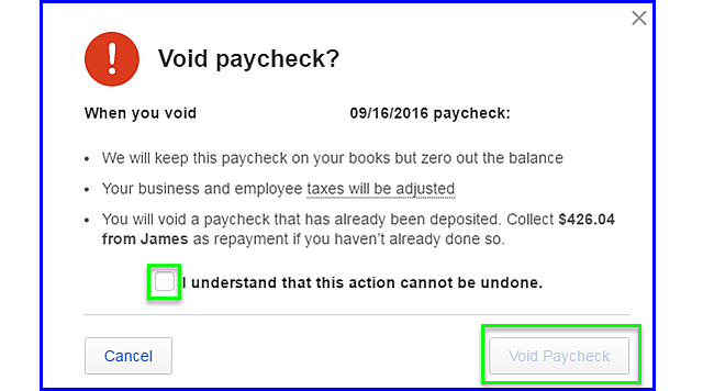 QBOP - Void Direct Deposit Payroll - fig 3