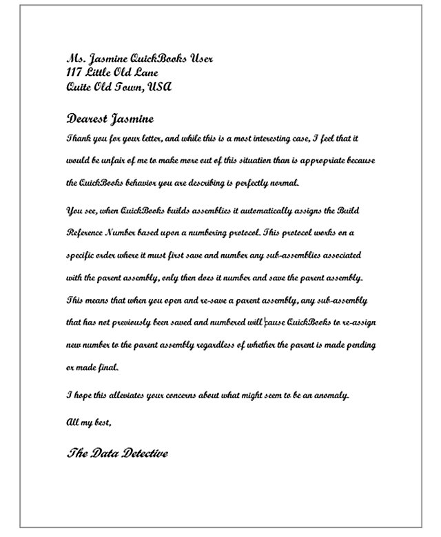 Letter to Jasmine