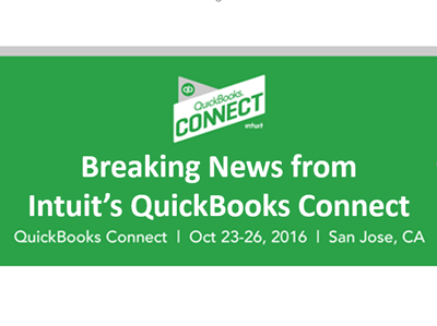 QuickBooks Connect 2016 Breaking News