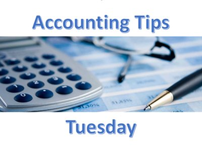 Accounting Tips Tueday - New