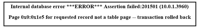 assertion failure