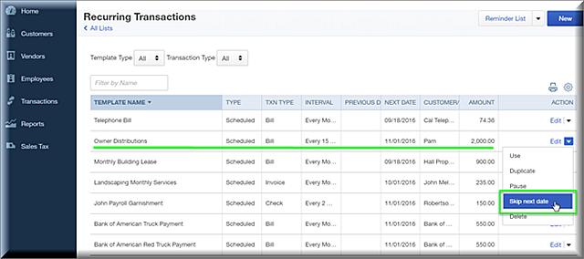 QBO Recurring Transactions