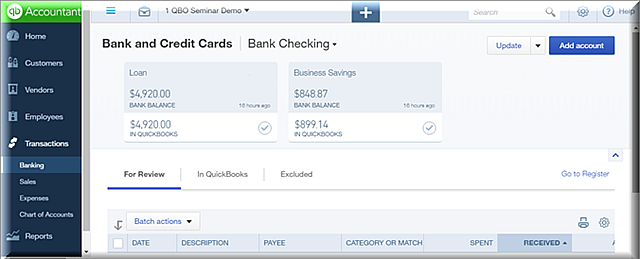 QBO Bank Feeds