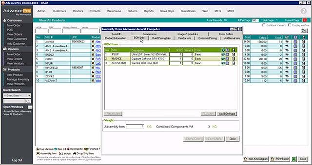 AdvancePro - Assem BOM Info