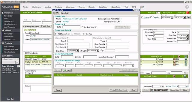 AdvancePro - Manuf Serialization
