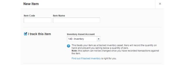 Xero Inventory Tracking
