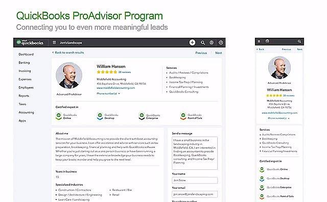 New Find-a-ProAdvisor Platform Finder View