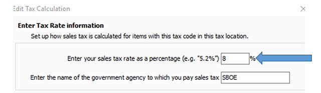POS Edit Tax Calculation