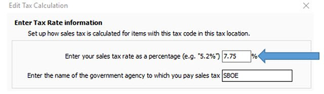 POS Edit Tax Rate to New Rate