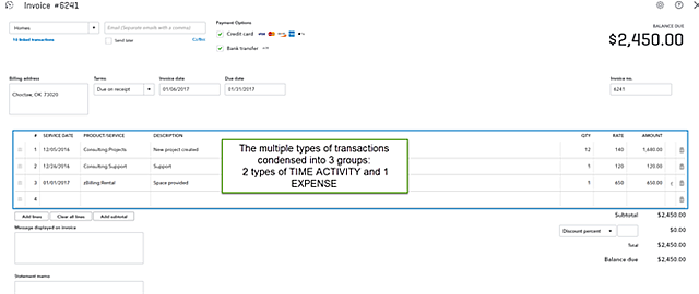 QBO Billable Expenses - final product