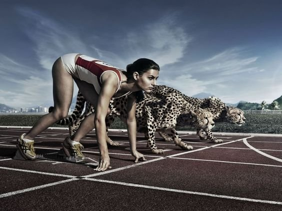 Women Racing Cheetah