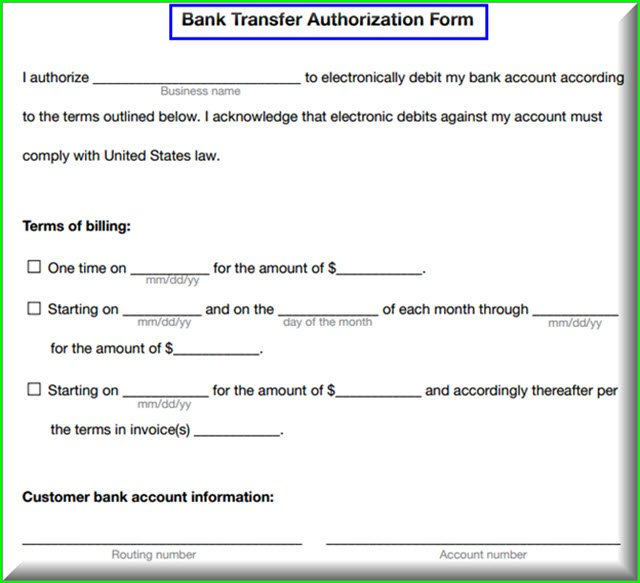 Qbo recurring credit card and e check payments bank authorization reheart Images