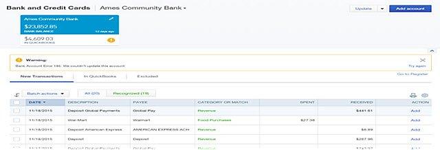Bank error 185