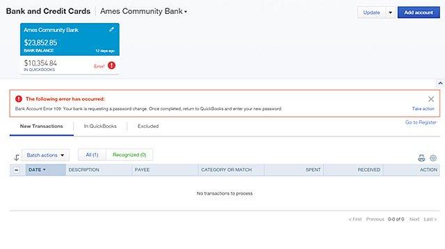Bank error 109