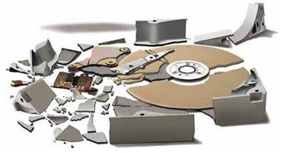 broken hard drive (ouch)