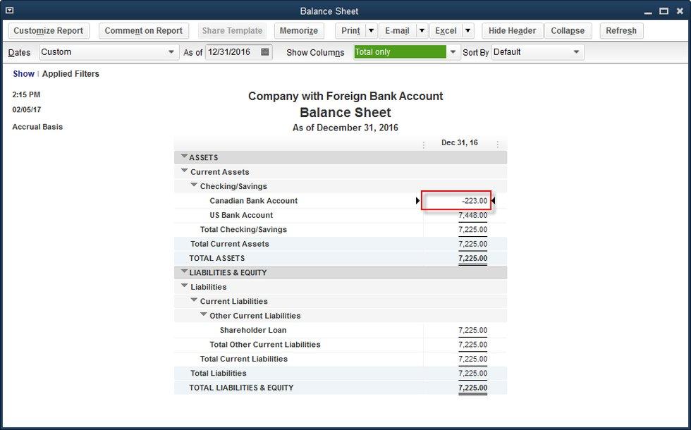 quickbooks desktop  your home currency adjustment super