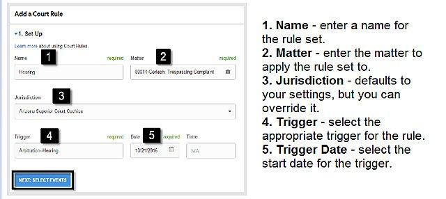 Clio court rules