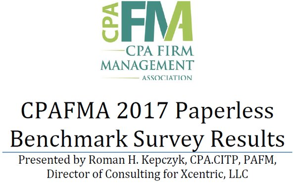 CPA FMA Paperless Benchmark Survey