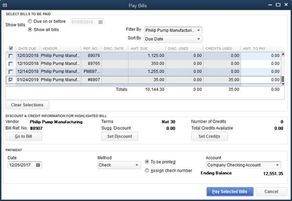Quickbooks 2014 Credits On Bill Payment Stubs
