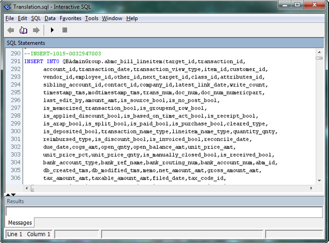 TLG file via SQL Translator