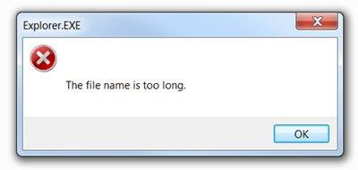 file name too long
