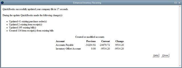 EIR convert report