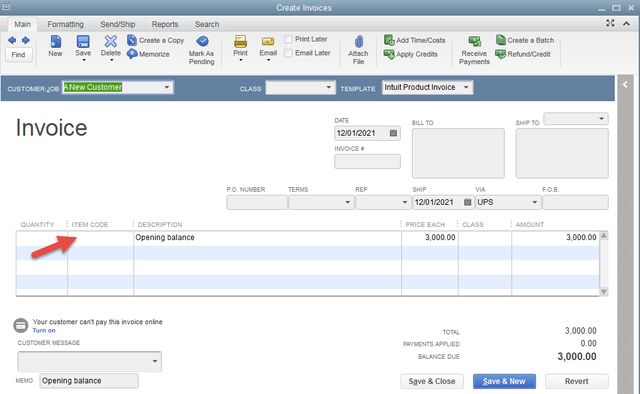 Using QuickBooks AddEdit Multiple List Entry For Opening Balances - Quickbooks invoice list