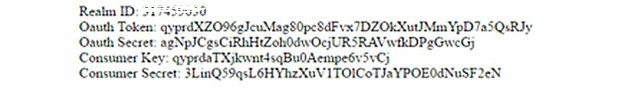 QBO OAuth Credentials