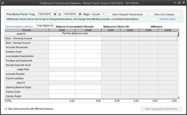 CDR Troubleshoot Balances Tool