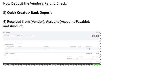 Vendor Credits and Refunds in QuickBooks Online