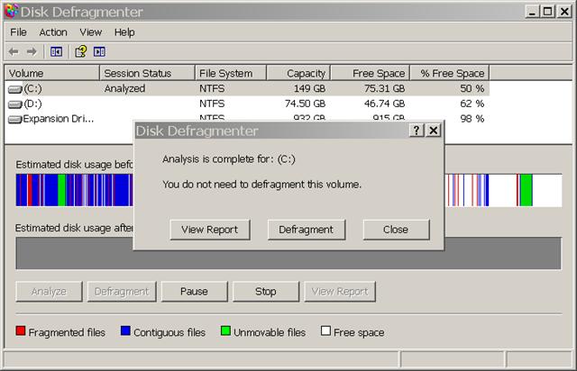 Windows Analyze Hard Drive