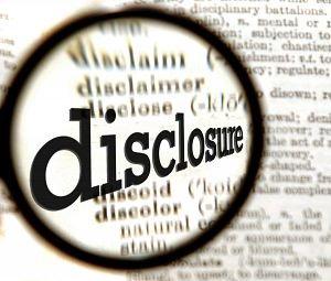 financial disclosures