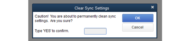 Clear Sync Settings in QB Desktop