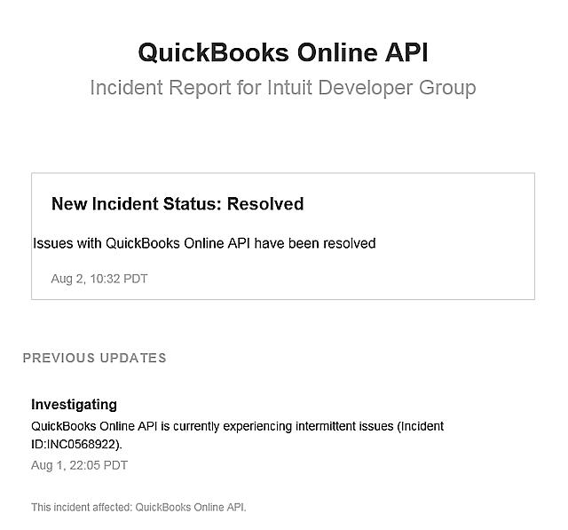 QBO API Resolution