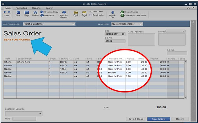 QuickBooks Enterprise 18 Advanced Inventory: Sales Order