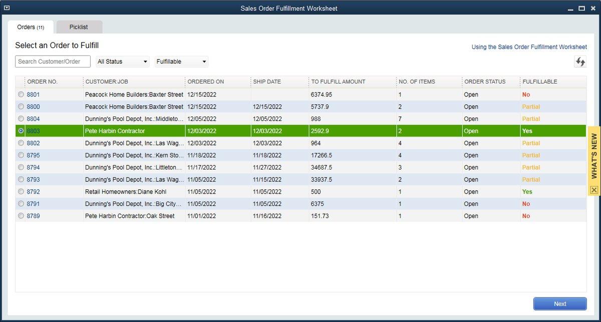 QuickBooks Enterprise 18 Advanced Inventory: Sales Order