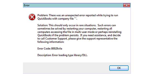 QBD Error 80029c4a