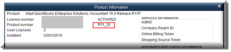 Quickbooks 2016 license and product number | How to locate your