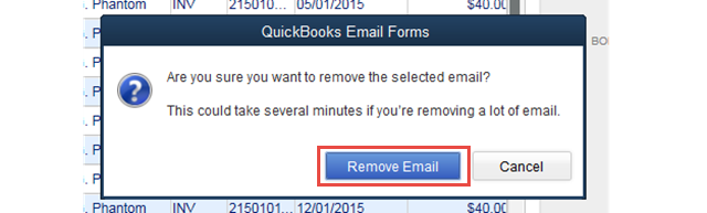 Confirm Email Removals