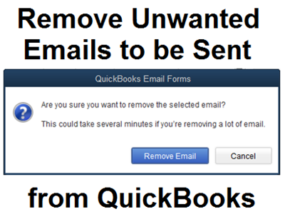 Remove Emails from QuickBooks