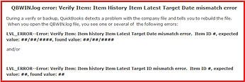 Target Date Mismatch Error