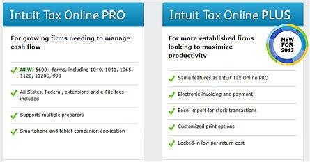 Intuit Tax Online Offerings