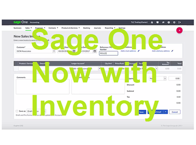 Sage One - Now with Inventory