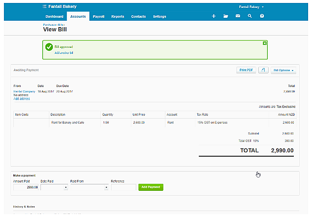 Xero Automated Coding for Bills