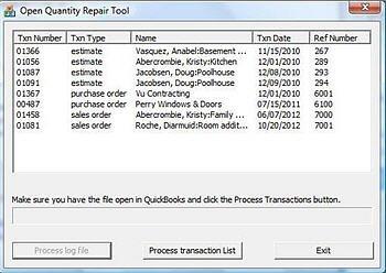 Open Quantity Repair Tool