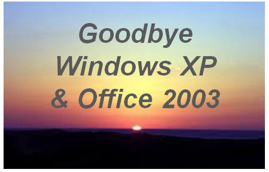 Goodbye Windows XP
